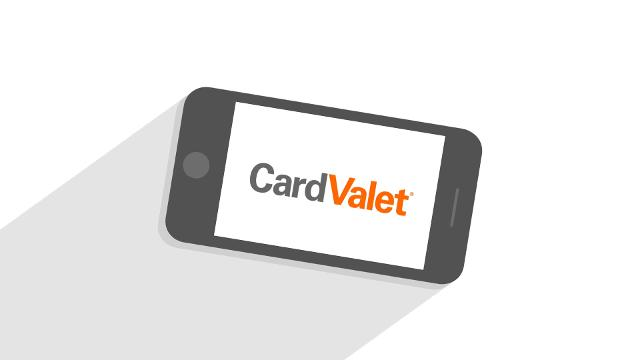 CardValet Logo - Mobile Phone Graphic